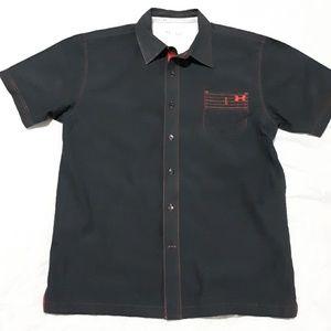 Under Armour Heat Gear Black Button Down Shirt L